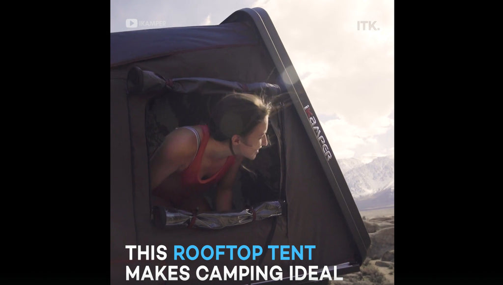 This Expandable tent unfolds in 60 seconds and has a king-size mattress inside: Yahoo! Life