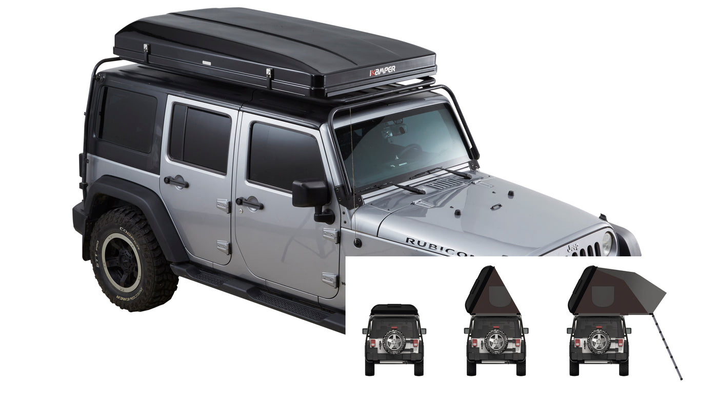 Skycamp: The Rooftop Tent that Sets Up in 1 Minute and Sleeps 4 People
