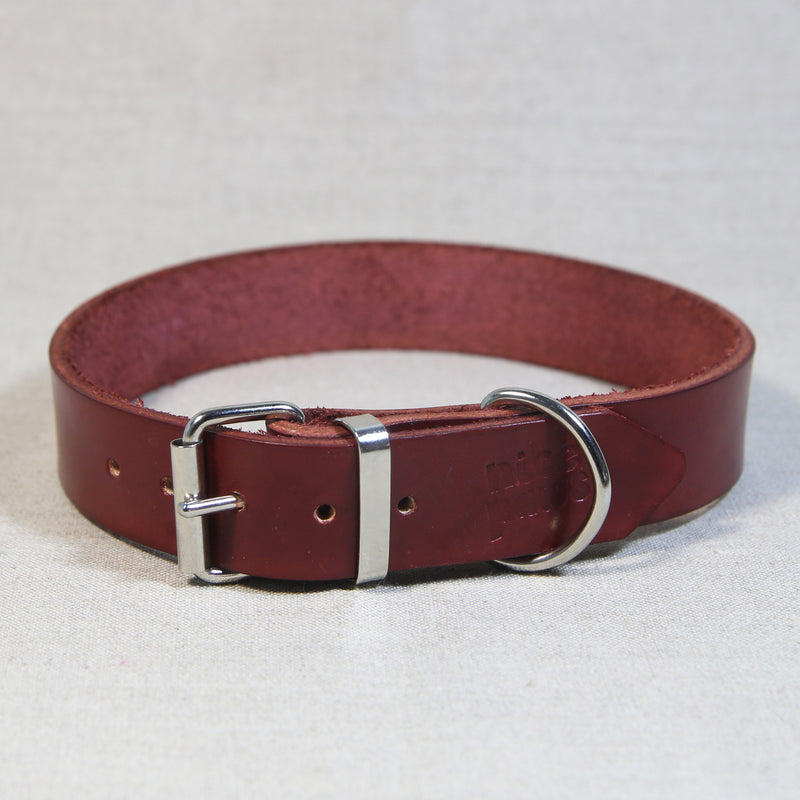 Leather Collar - Brick