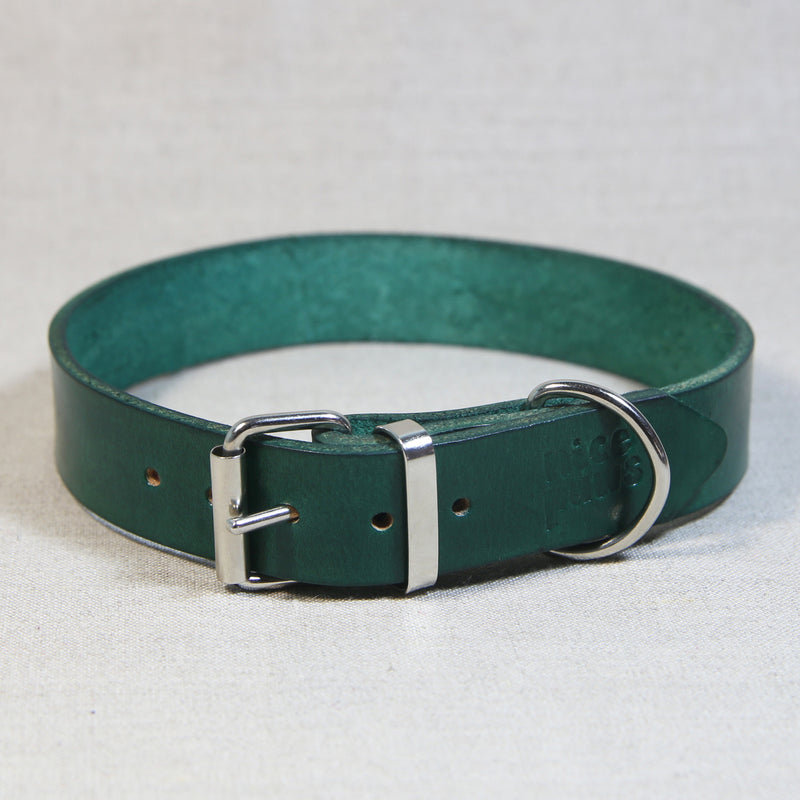 Leather Collar - Jade