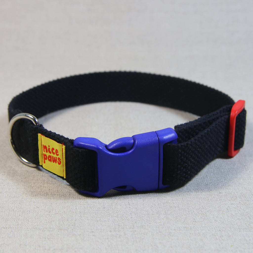 Cotton Collar - Black/Blue/Red - (M)