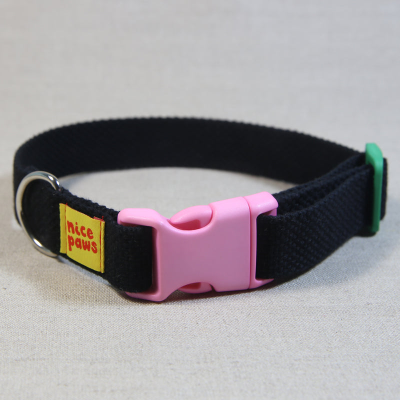 Cotton Collar - Black/Light Pink/Green