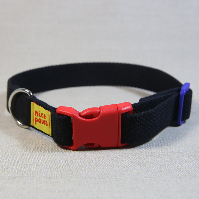 Cotton Collar - Black/Red/Blue