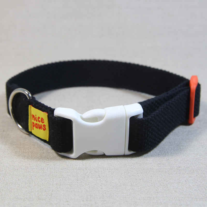 Cotton Collar - Black/White/Orange - (M)