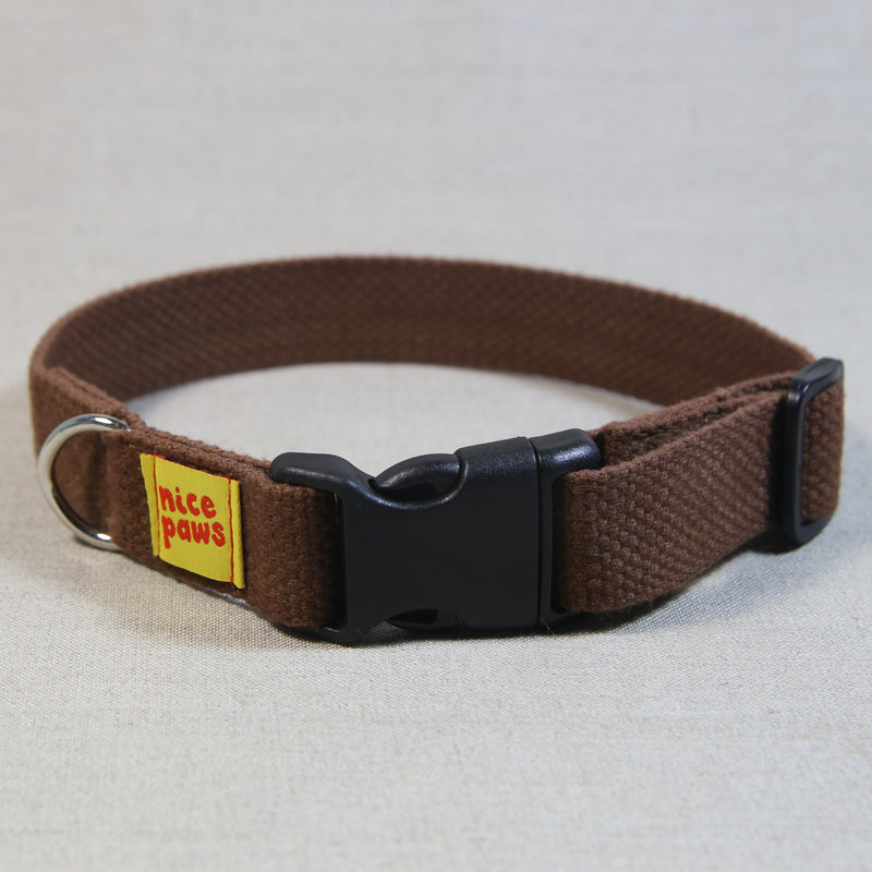 Cotton Collar - Brown/Black
