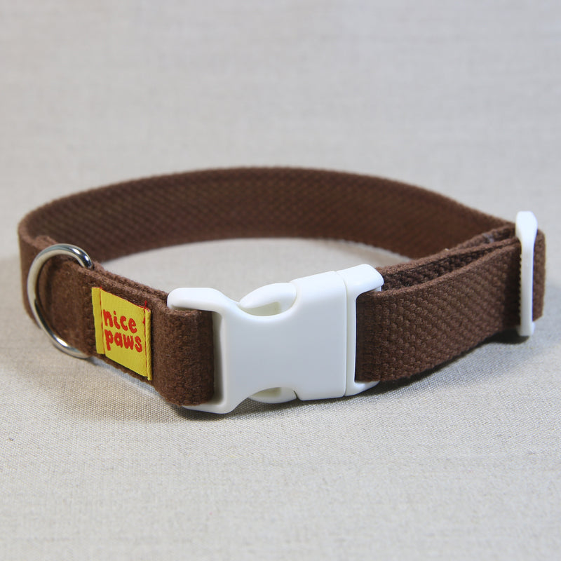 Cotton Collar - Brown/White
