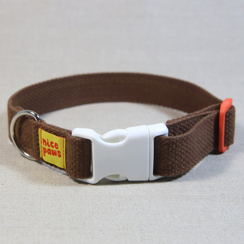 Cotton Collar - Brown/White/Orange