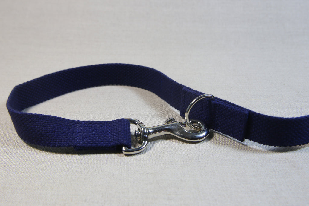 Clip Handle Cotton Leash - Navy