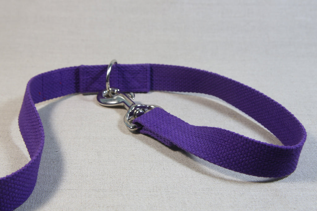 Clip Handle Cotton Leash - Purple