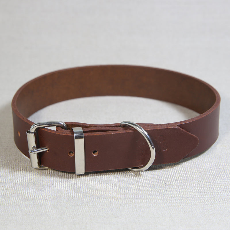 Leather Collar - Cognac