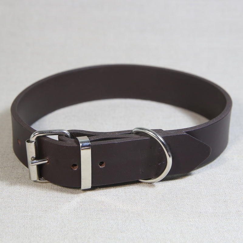 Leather Collar - Dark Brown