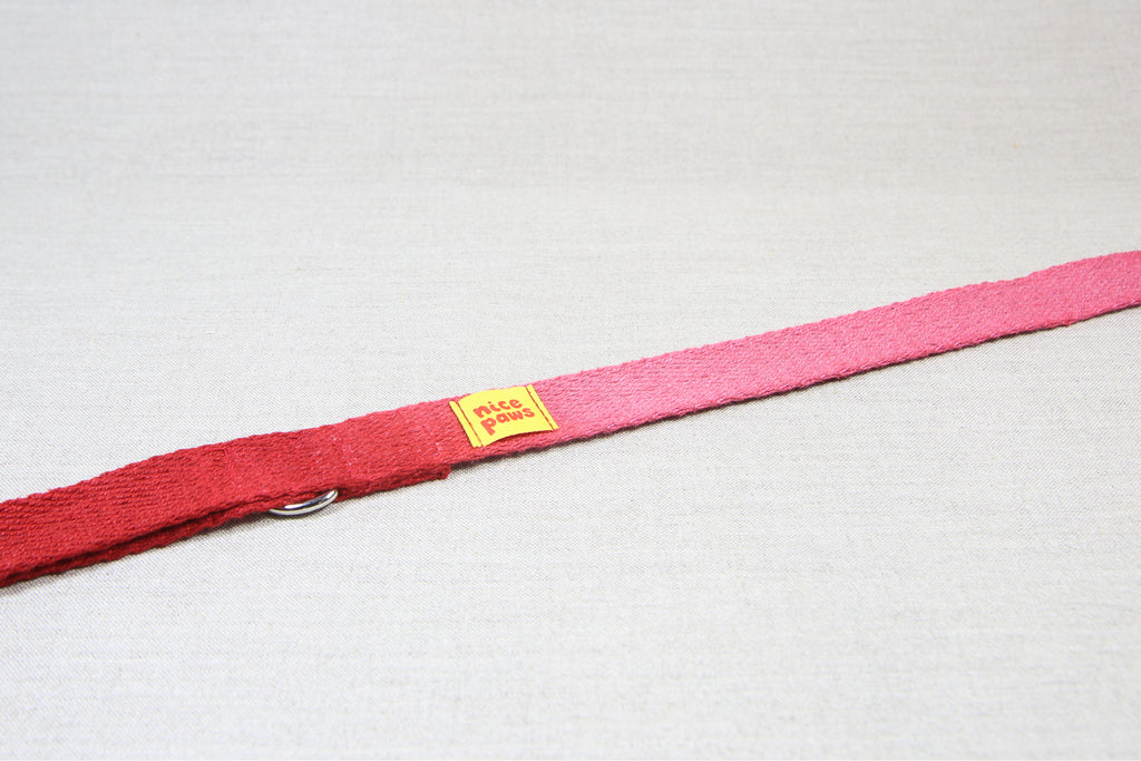 Hemp Leash - Pink/Red