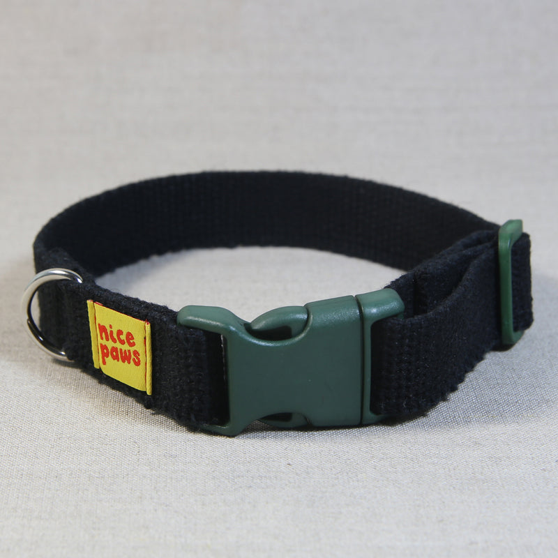 Hemp Collar - Black/Green