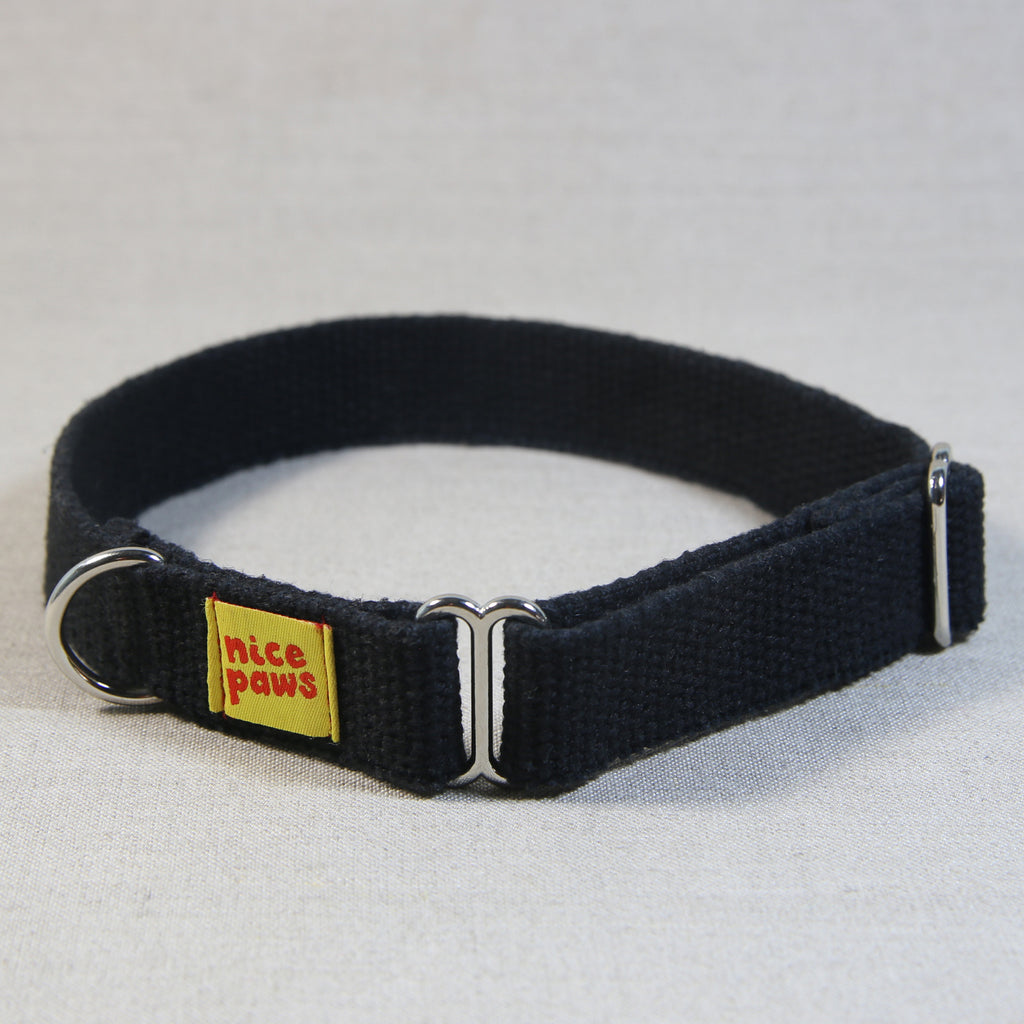 Hemp Slide-On Collar - Black