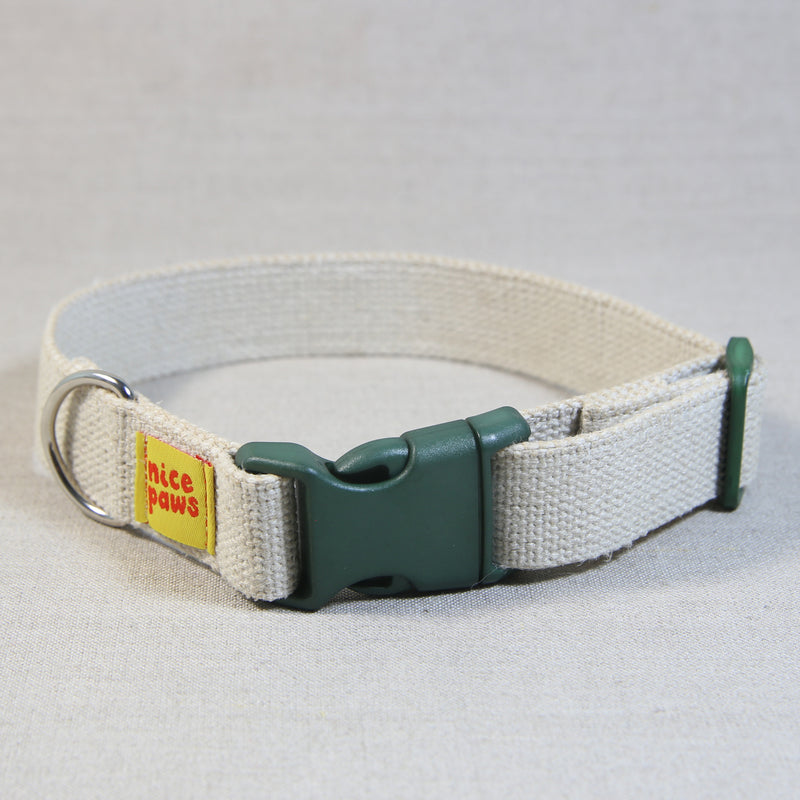 Hemp Collar - Natural/Green