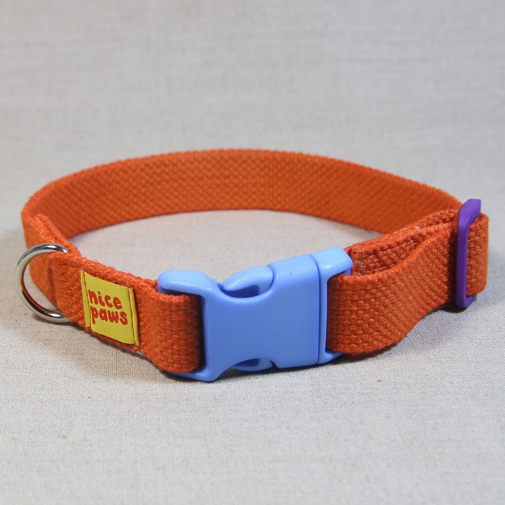 Cotton Collar - Orange/Light Blue/Purple