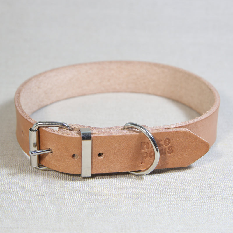 Leather Collar - Natural