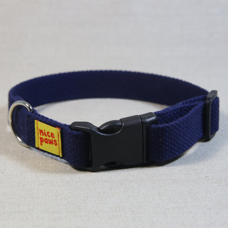 Cotton Collar - Navy/Black