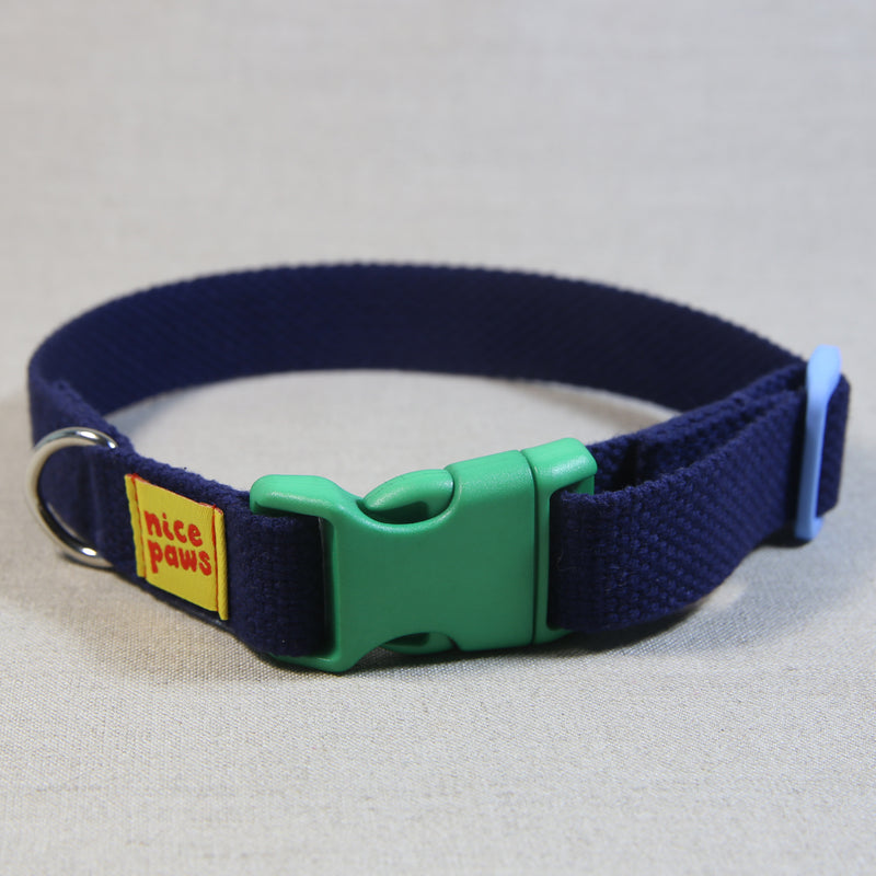 Cotton Collar - Navy/Green/Light Blue
