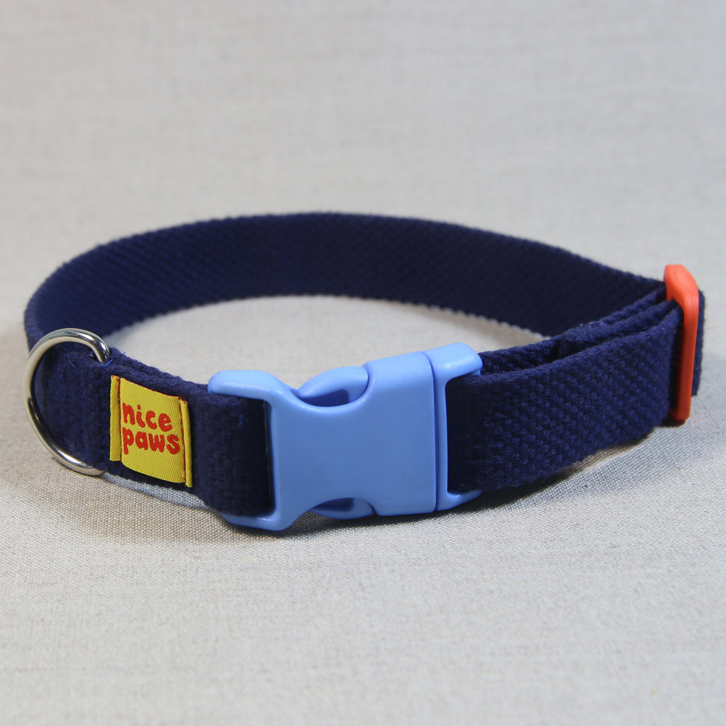 Cotton Collar - Navy/Light Blue/Orange - (M)