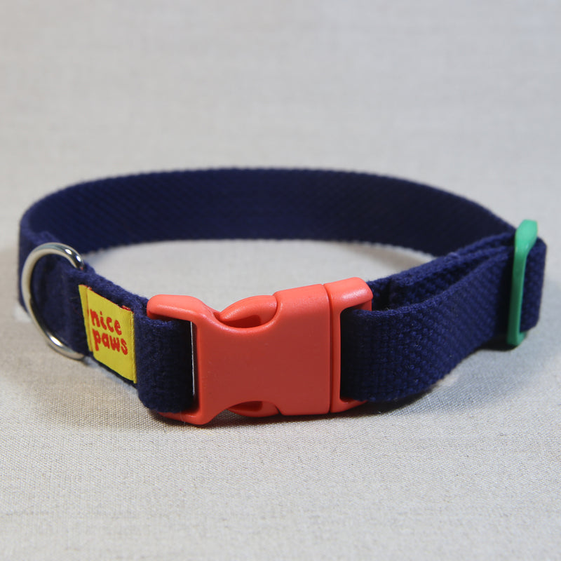 Cotton Collar - Navy/Orange/Green