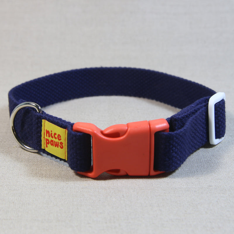 Cotton Collar - Navy/Orange/White - (M)