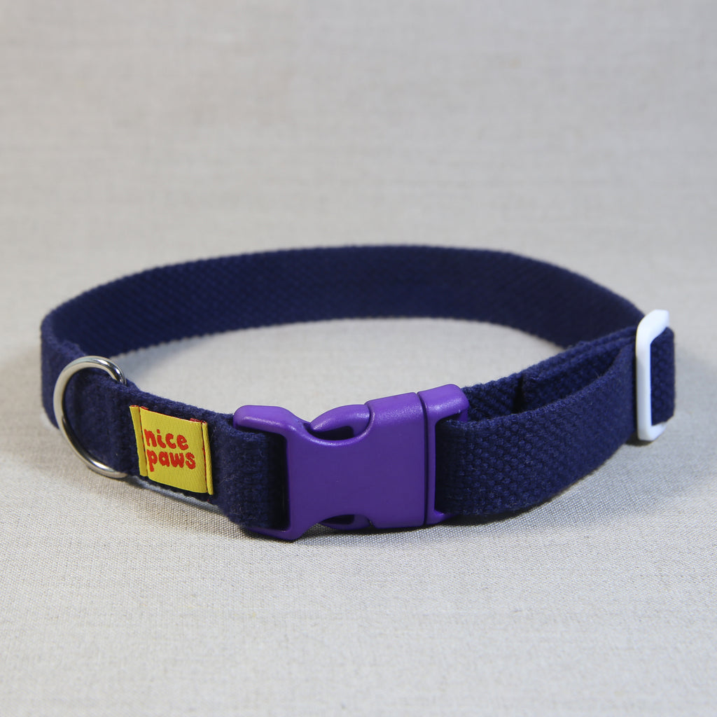 Cotton Collar - Navy/Purple/White - (L)