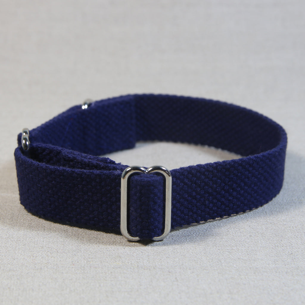 Cotton Slide-On Collar - Navy