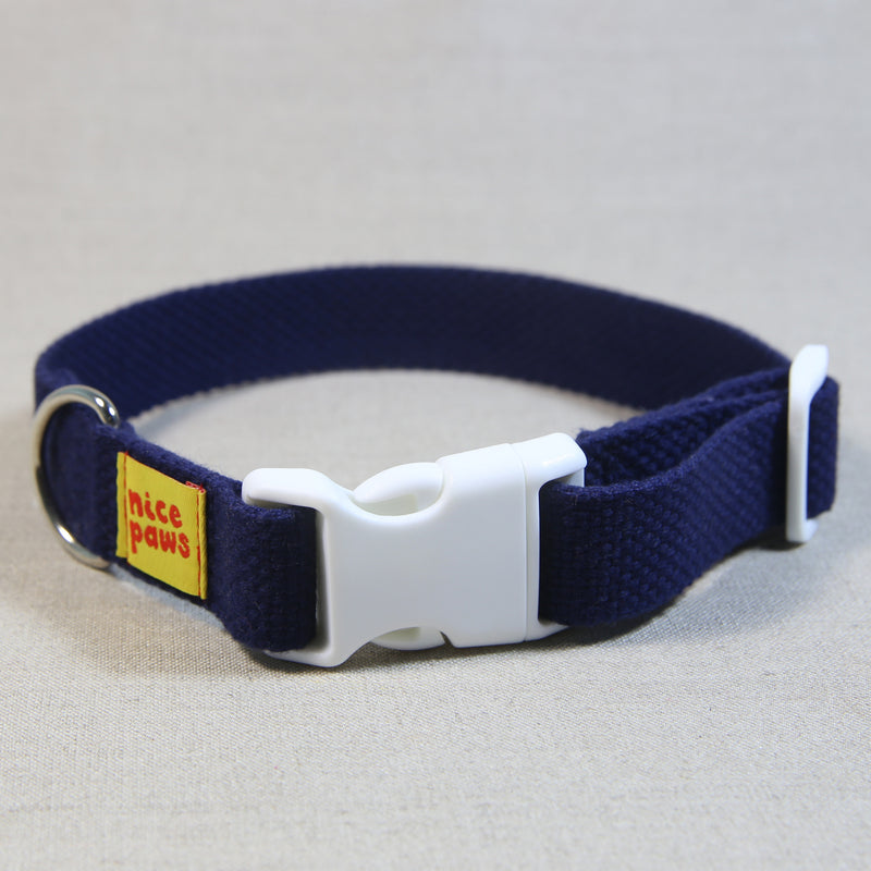 Cotton Collar - Navy/White
