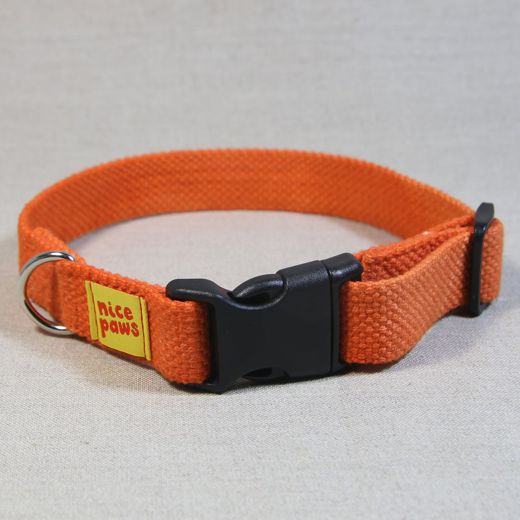 Cotton Collar - Orange/Black