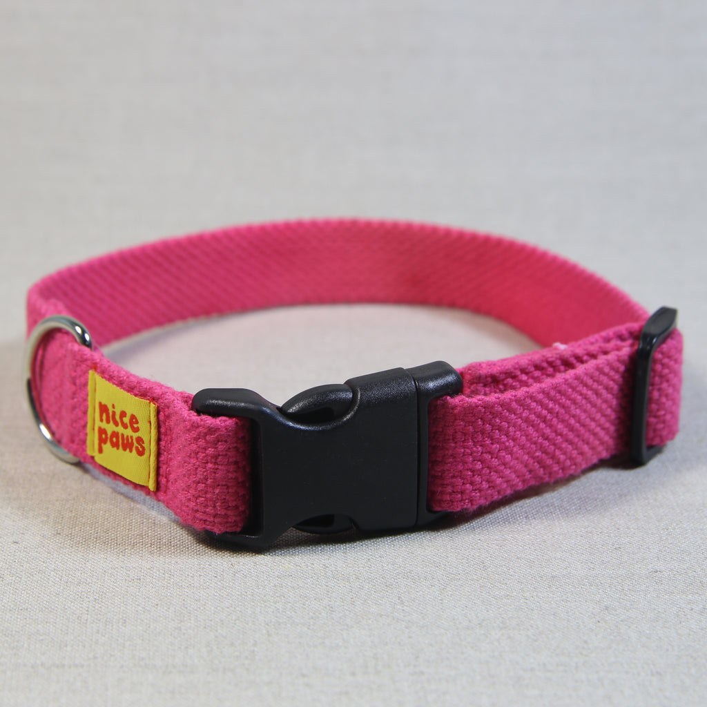 Cotton Collar - Pink/Black
