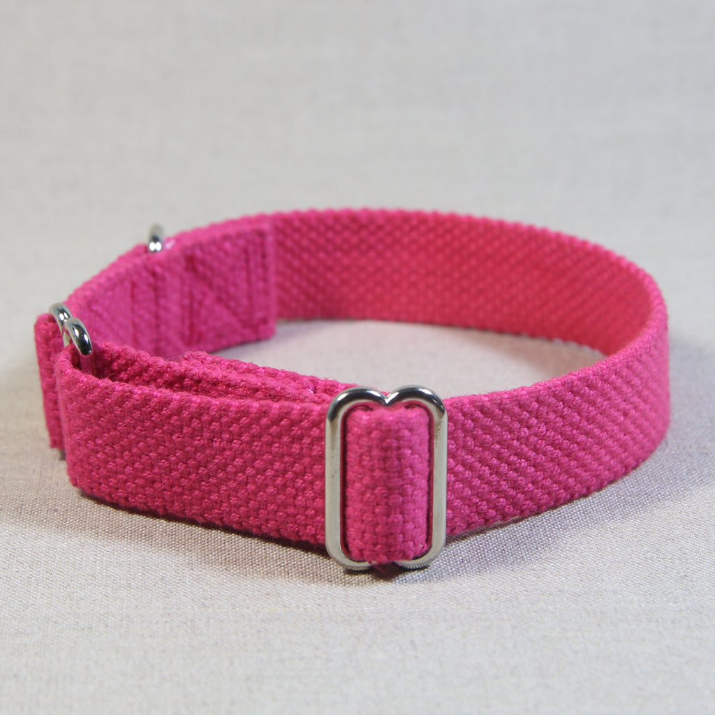 Cotton Slide-On Collar - Pink