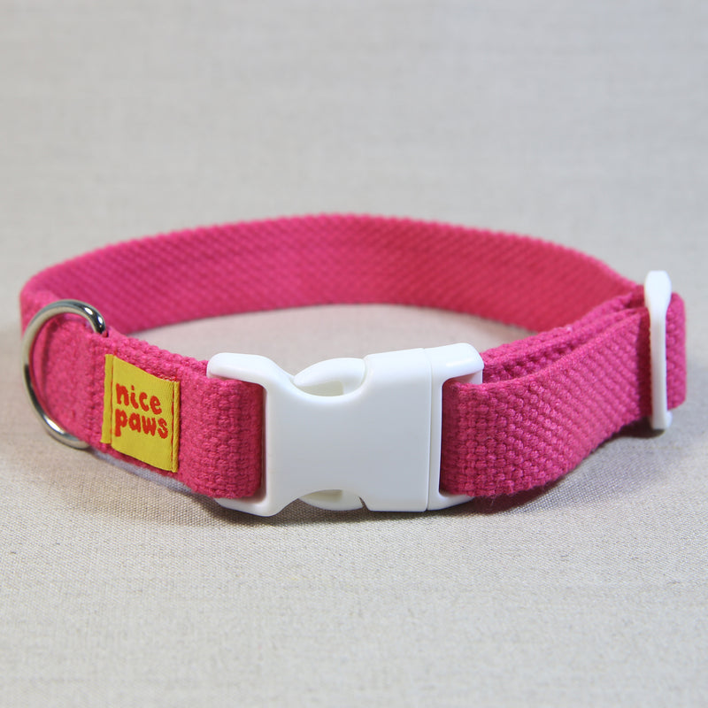 Cotton Collar - Pink/White