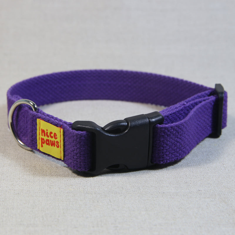 Cotton Collar - Purple/Black