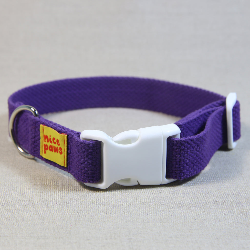 Cotton Collar - Purple/White