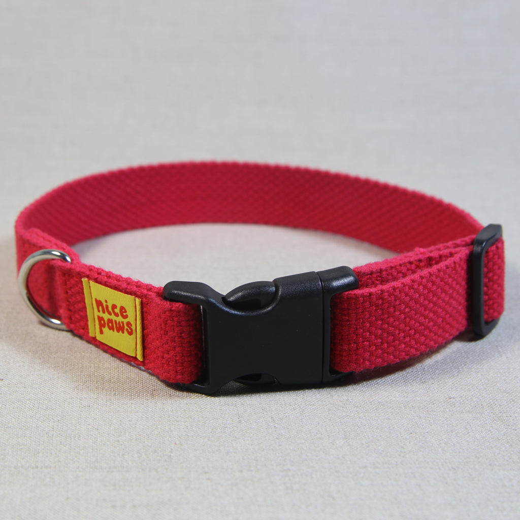 Cotton Collar - Red/Black
