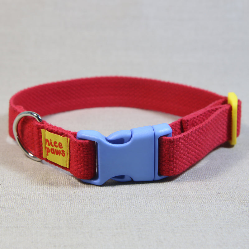 Cotton Collar - Red/Light Blue/Yellow