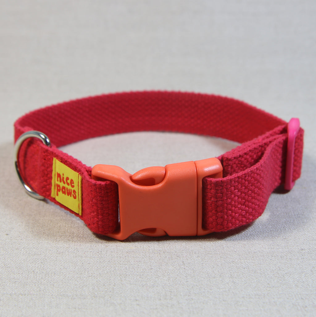 Cotton Collar - Red/Orange/Pink - (M)