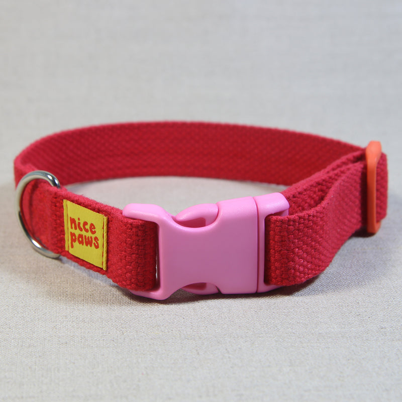 Cotton Collar - Red/Light Pink/Orange