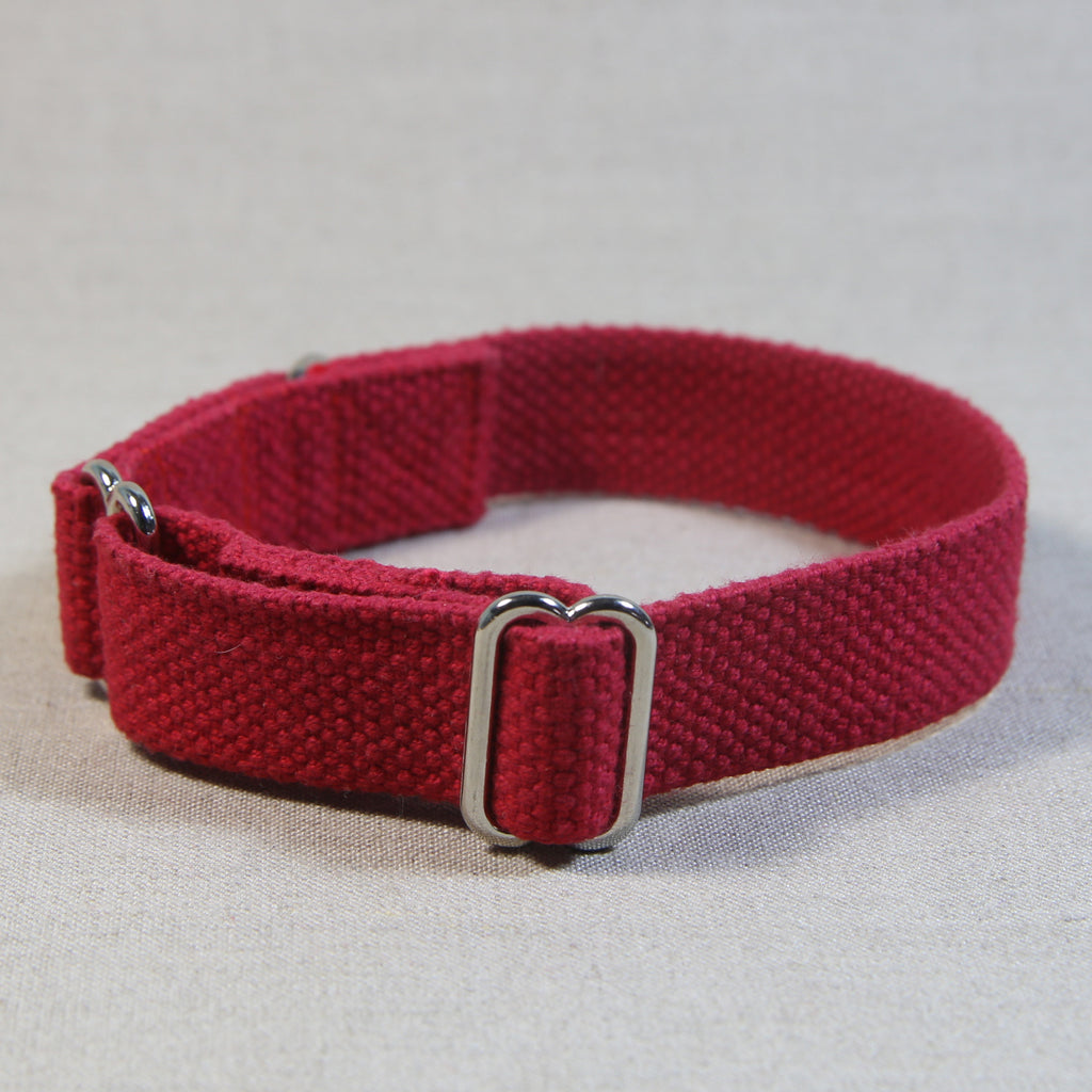 Cotton Slide-On Collar - Red