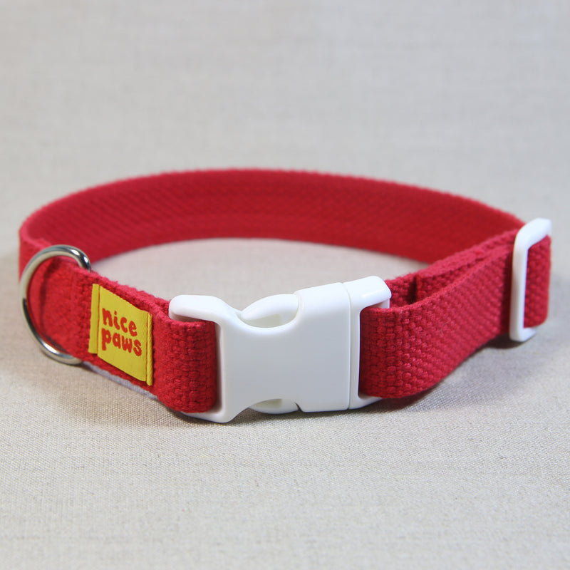 Cotton Collar - Red/White