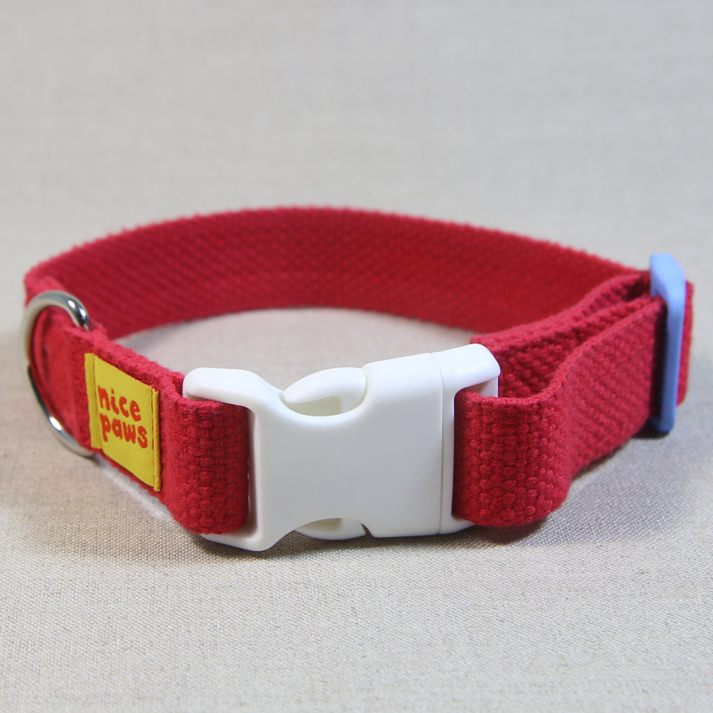 Cotton Collar - Red/White/Light Blue - (S)