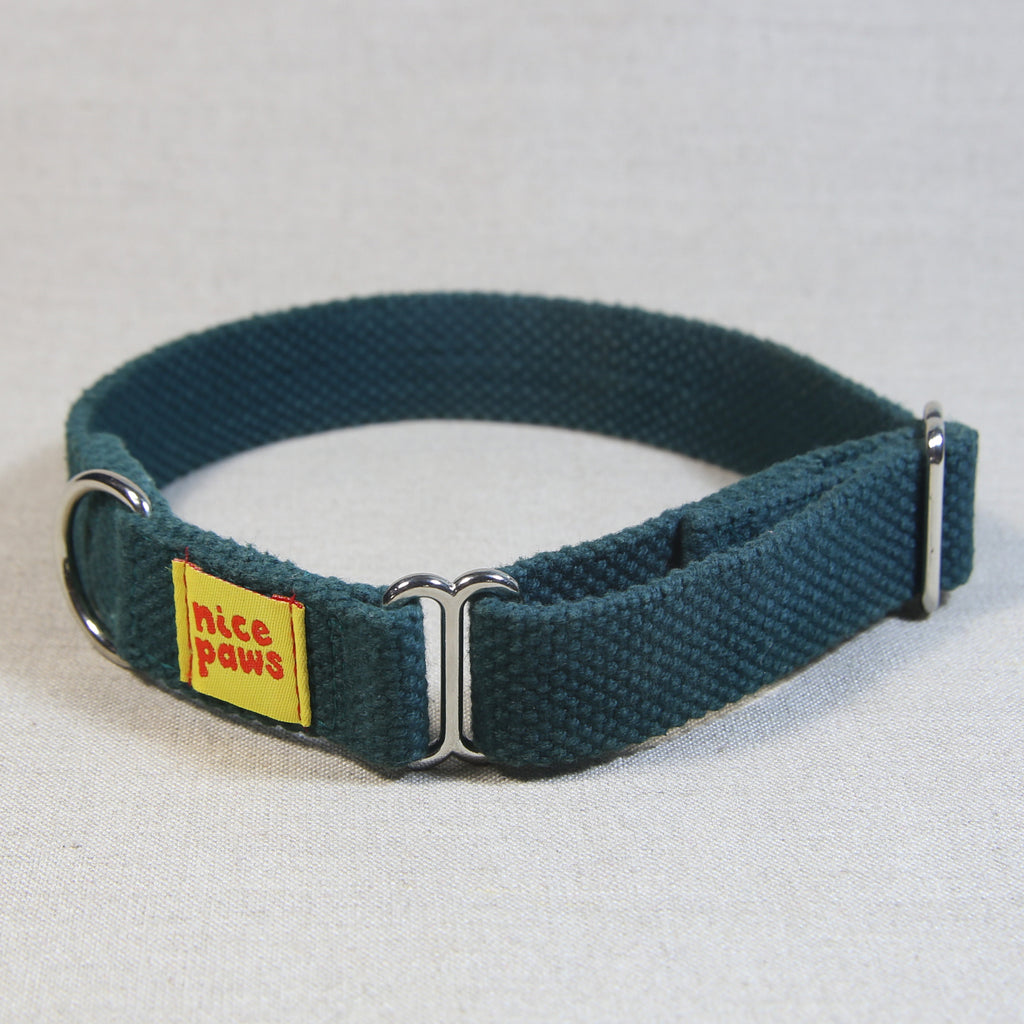Cotton Slide-On Collar - Bottle Green