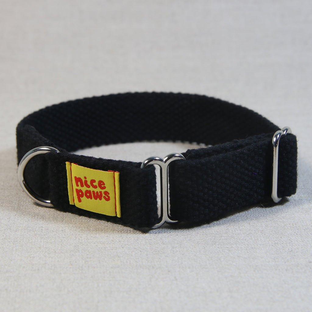 Cotton Slide-On Collar - Black