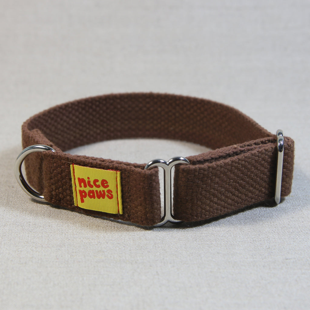 Cotton Slide-On Collar - Brown