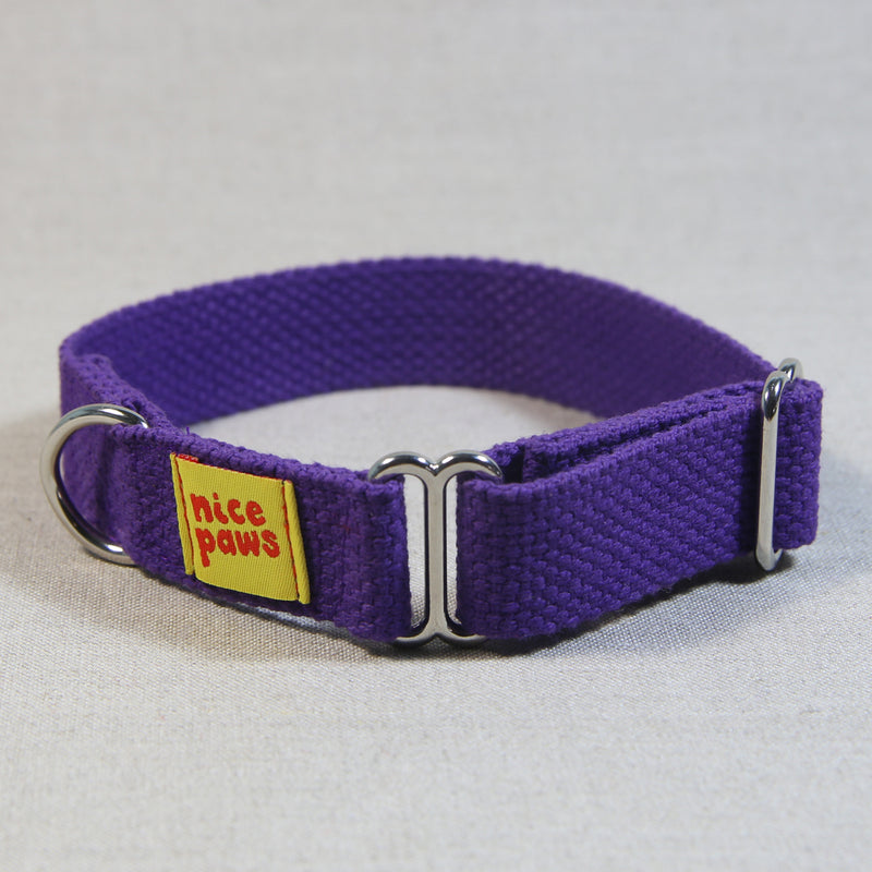 Cotton Slide-On Collar - Purple