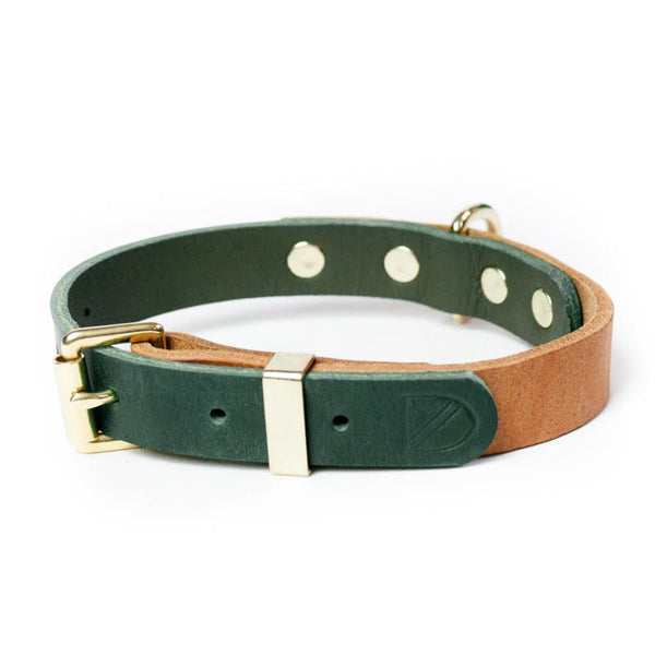 Vackertass Two-Tone Leather Collar