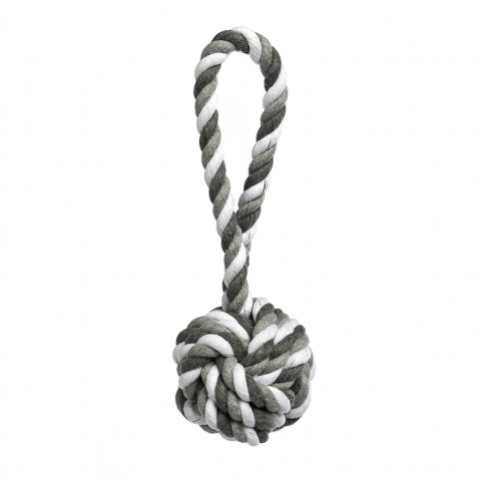 Grey Tri-Color Knot Rope Toy