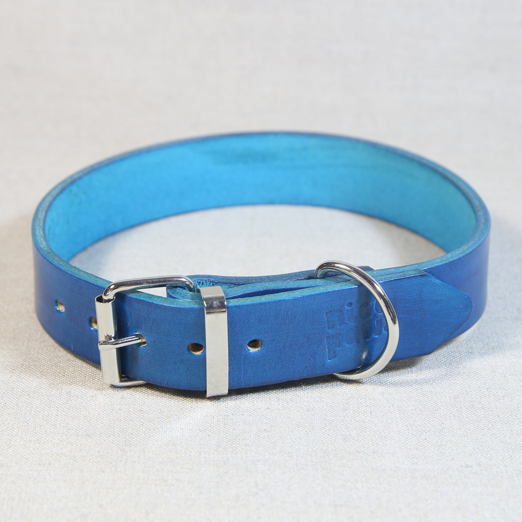 Leather Collar - Turquoise