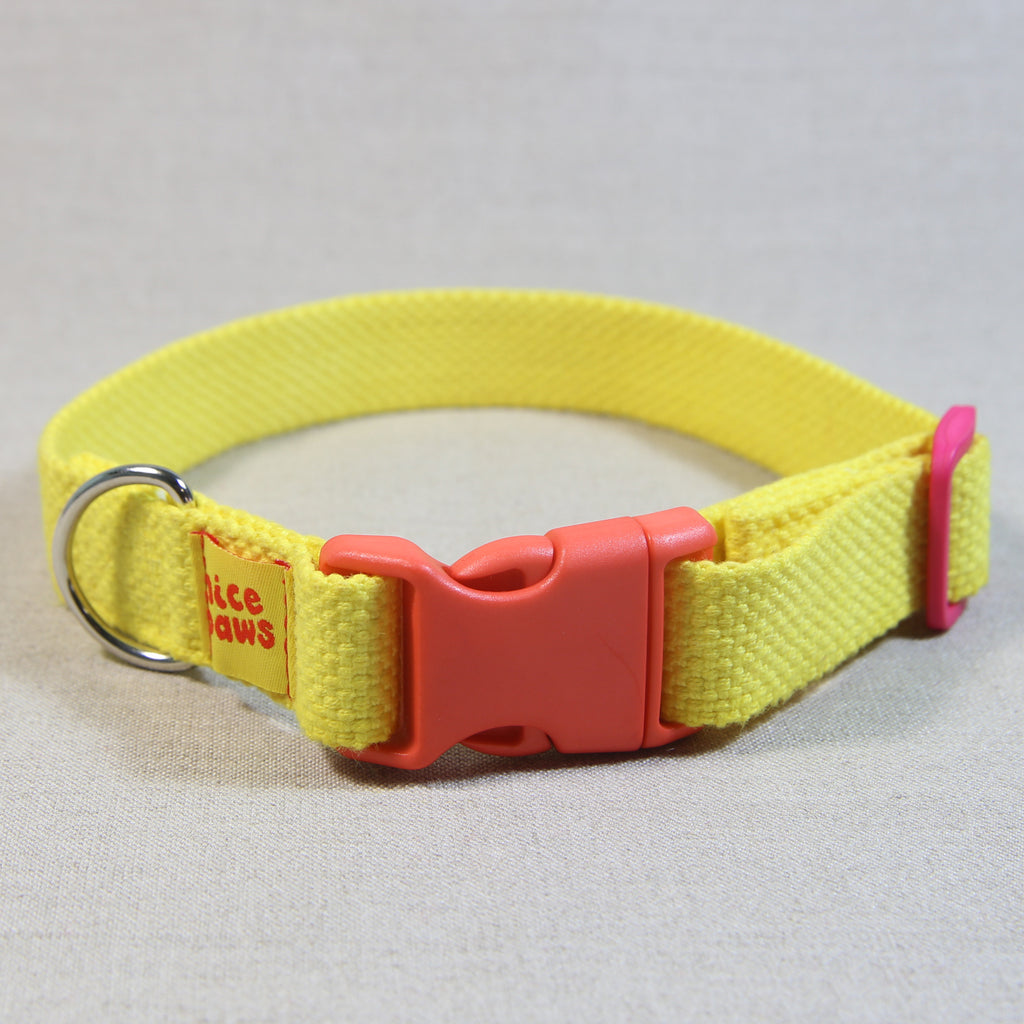 Cotton Collar - Yellow/Orange/Pink - (M)